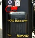Bidón 2L gasolina + soporte para maletas Holan