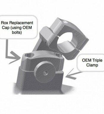 Alzas de manillar ROX de 50mm para BMW R 1200 GS LC