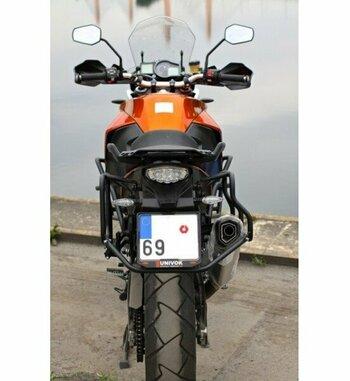 Soporte maletas Holan Pro para KTM 1050/1190/1290 con escape Remus